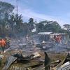 Un resguardo indígena es consumido por el fuego