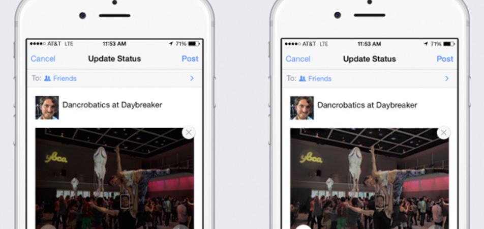 Facebook arreglará tus fotos de manera automatica