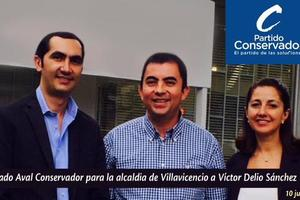 Víctor Delio Sánchez es el candidato conservador a la alcaldía de Villavicencio