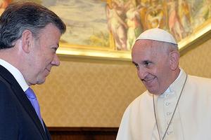 El Papa Francisco le pidió al Presidente Santos perseverar en la búsqueda de la paz de Colombia