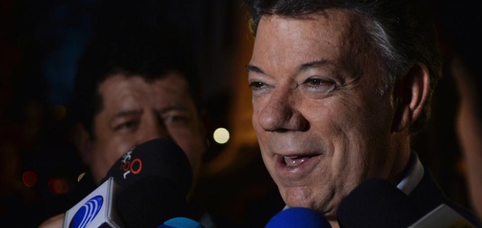 """""""No le tengamos miedo a la paz"""", presidente Santos"""