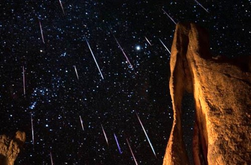 Espectáculo de lluvia de estrellas Gemínidas