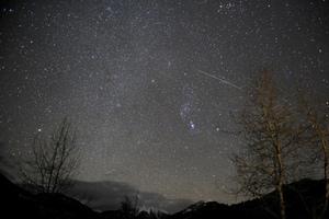 Así se vío el cielo con la lluvia de estrellas Gemínidas este fin de semana