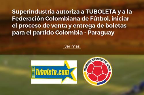 Autorizan venta de boletas para el partido Colombia-Paraguay