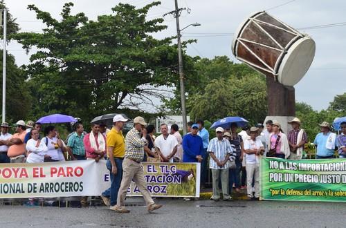 Arroceros se unen al paro agropecuario nacional del 12 de octubre