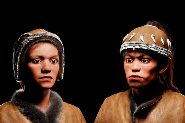 Reconstrucción detallada de dos adolescentes que vivieron hace 30.000 años