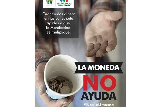 Villavicencio lanza campaña para combatir la mendicidad