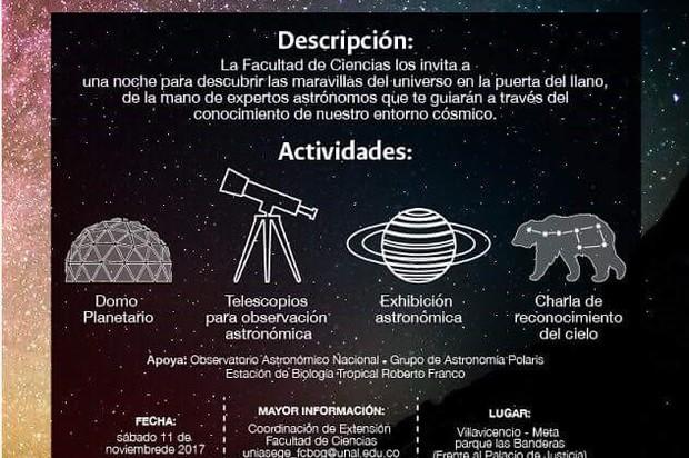 En Villavicencio se realizará el Festival de Astronomía