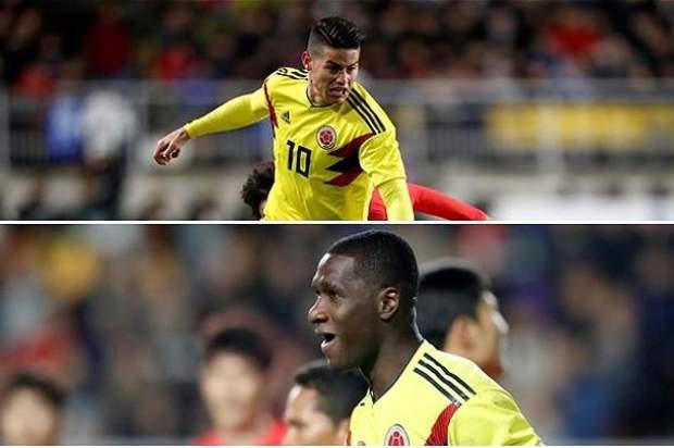 Al partido contra China no irán James Rodríguez y Cristian Zapata