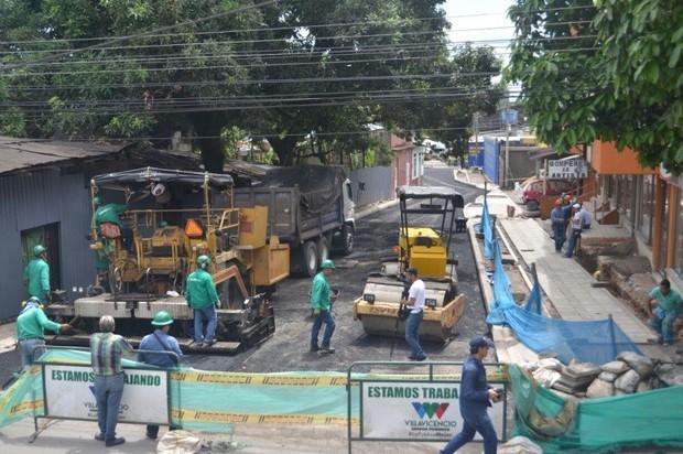 Se rehabilitó calle en el barrio San Benito