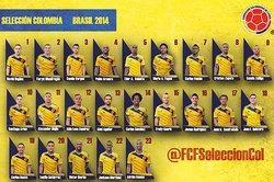 Los 23 colombianos de Pekerman en Brasil 2014