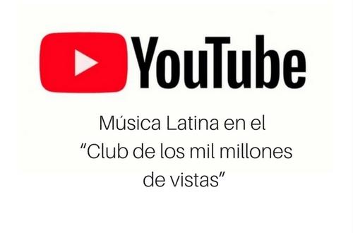 Los vídeos de música latina tienen un aumento del 300% según indica YouTube