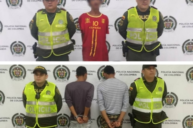 Se captura en Villavicencio, tres delincuentes por delito de hurto