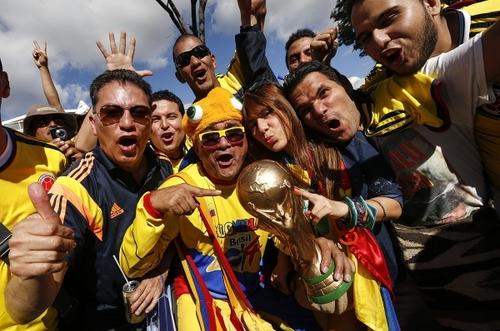 Colombia es una sola bandera en el Mundial Brasil 2014