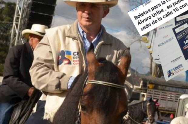 El Centro Democrático rifa tres caballos donados por el senador Uribe