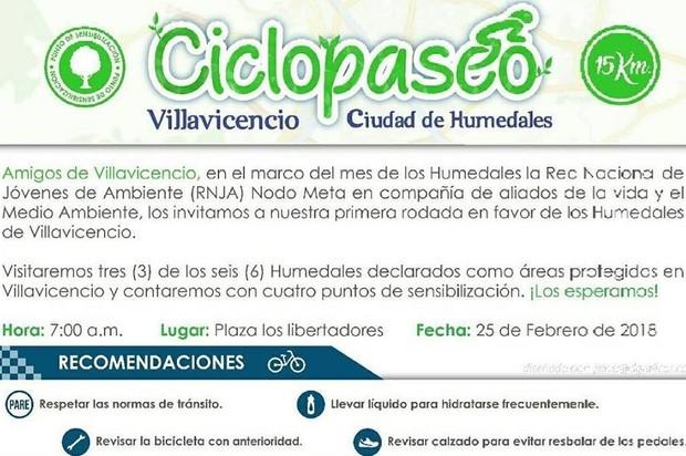 A rodar por los Humedales de Villavicencio