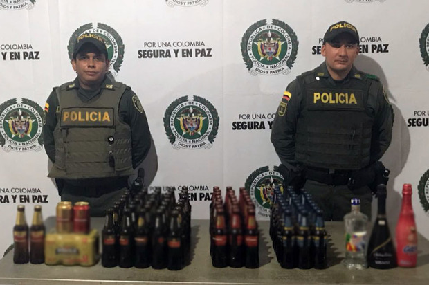 Incautadas 93 botellas de licor vencido en San Martín, Meta