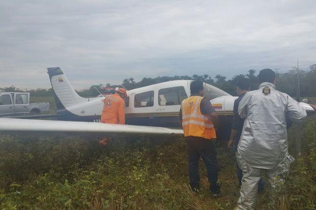 Avioneta aterriza de emergencia en el cementerio de Villavicencio