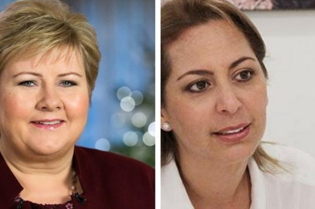 Marcela Amaya en Vistahermosa con la Ministra de Noruega Erna Solberg