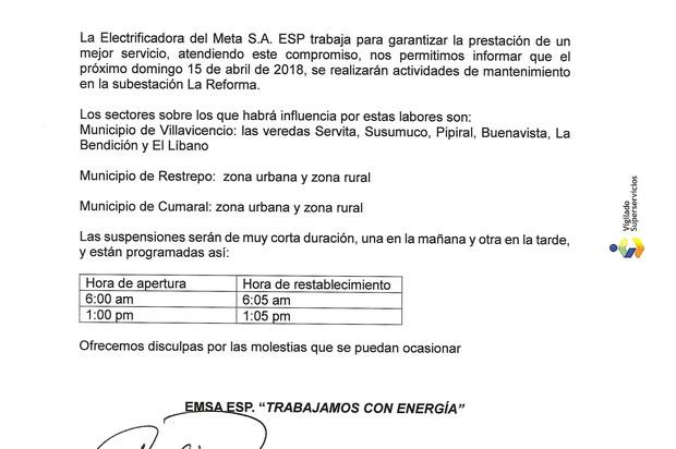 Actividades de mantenimientos en la subestación La Reforma