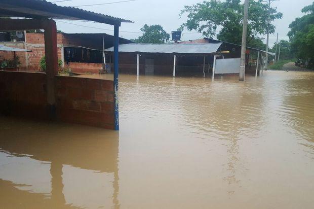 Desbordamiento del Río Upia en Cabuyaro, Meta