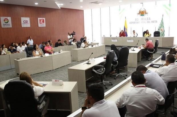 Se aprobaron en Asamblea del Meta dos proyectos de ordenanza