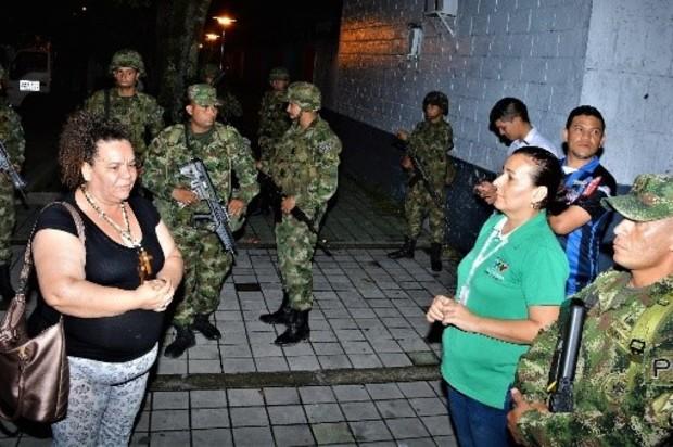 Policia Militar refuerza la seguridad en el barrio Popular de Villavicencio