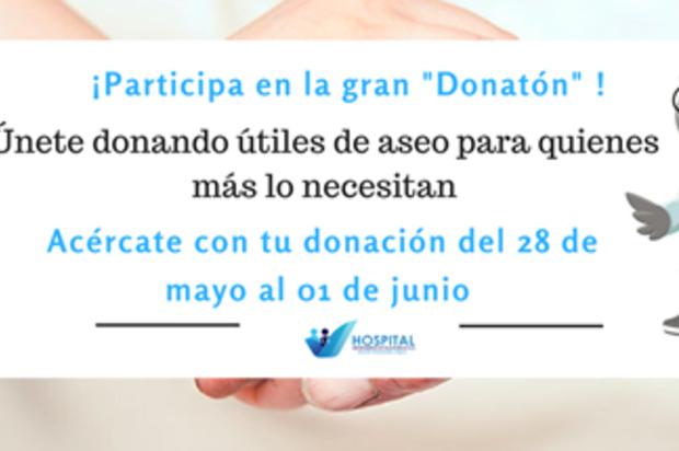 ¡Gran donatón para ayudar a pacientes en condición de vulnerabilidad!