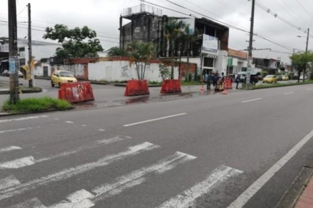 Instalación de sardineles para salvar vidas en las vías de Villavicencio