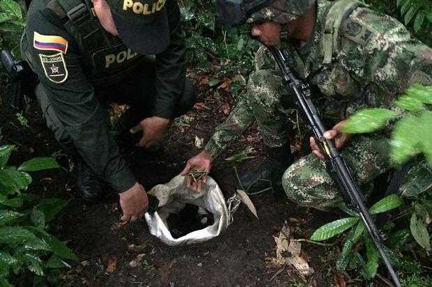 Hallada caleta con armamento de guerra en San Martín, Meta