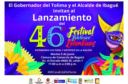 Ibagué realiza lanzamiento del Festival Folclórico Colombiano en Bogotá