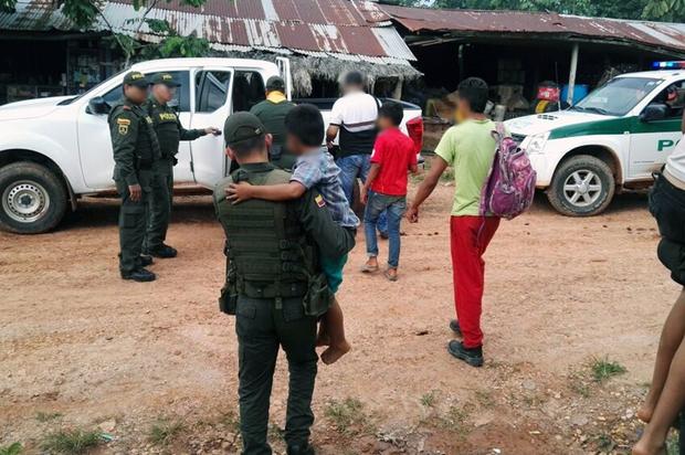 La policía del Meta rescató a seis menores de edad fugados de sus hogares