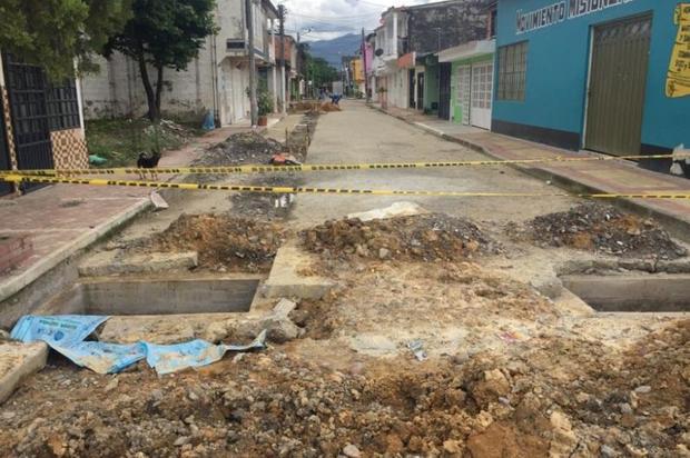 Inicia pavimentación en la calle de El Sosiego en Villavicencio