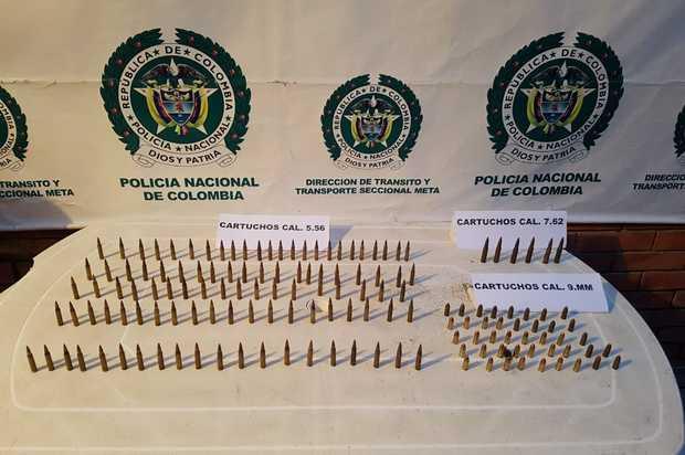 Policía incautó municiones que iban camufladas en bus intermunucipal