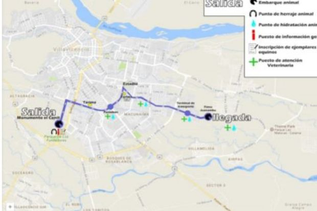 Este será el recorrido de la cabalgata de este jueves 28 de junio