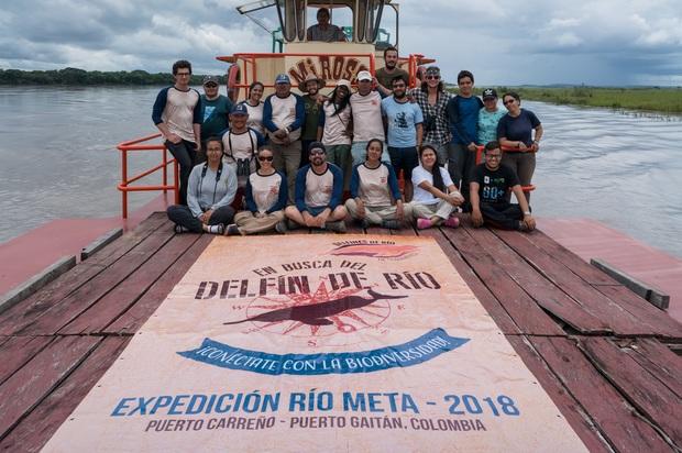 Expediciónbiológica en el río Meta