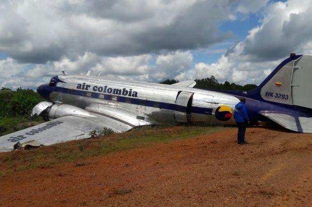 Un avión con ayudas humanitarias se accidentó en Guainía