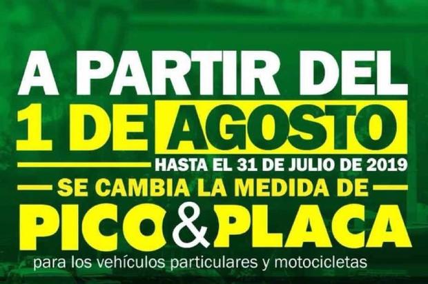 ¡Atención! Cambia el Pico y Placa en Villavicencio