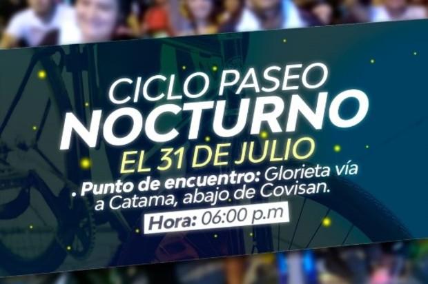 Martes 31 de julio habrá ciclo paseo nocturno en Villavicencio