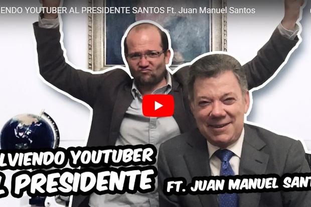 Juan Manuel Santos de Presidente a Youtuber