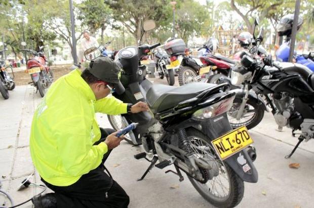 Hoy se hará marcación de motocicletas por parte de la Sijín