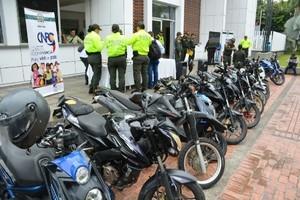 Policía Metropolitana de Villavicencio recuperó 20 motocicletas hurtadas