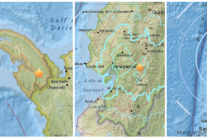 Cadena de sismos en Panamá, Ecuador y Chile en menos de una hora