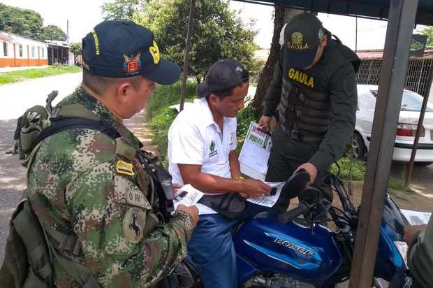 Policía activo plan contra la extorsión en Fuente de Oro, Meta