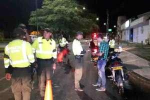 83 comparendos realizó la Policía en operativos este fin de semana