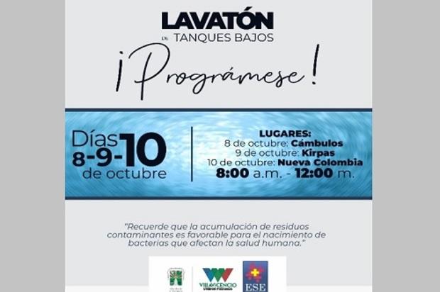 Jornada de limpieza a tanques elevados en tres sectores de Villavicencio