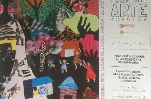 Inauguración del VI Salón BAT de arte popular en Villavicencio