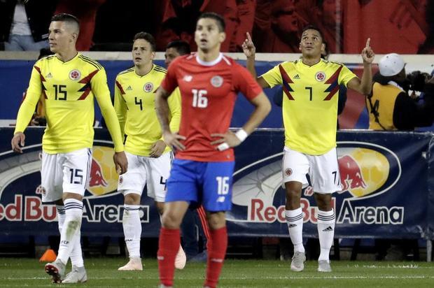 Colombia se impuso con un 3-1 ante Costa Rica