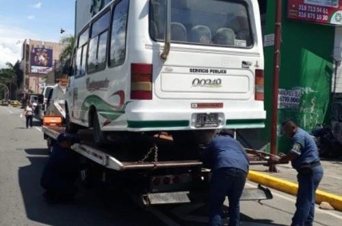 Se adelantaron operativos de control tecnomecánico a buses en Villavicencio