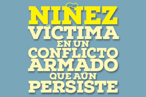 La niñez colombiana sigue siendo la mayor víctima del conflicto armado